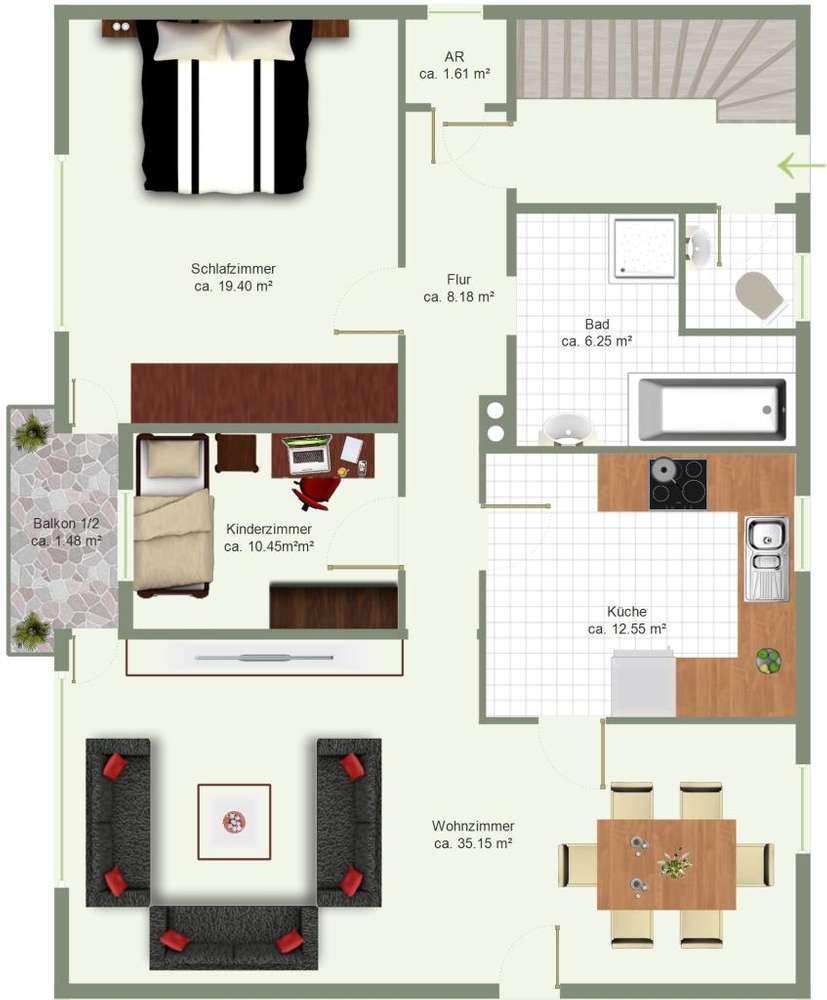 Einfamilienhaus am Regen - Grundriss Erdgeschoss