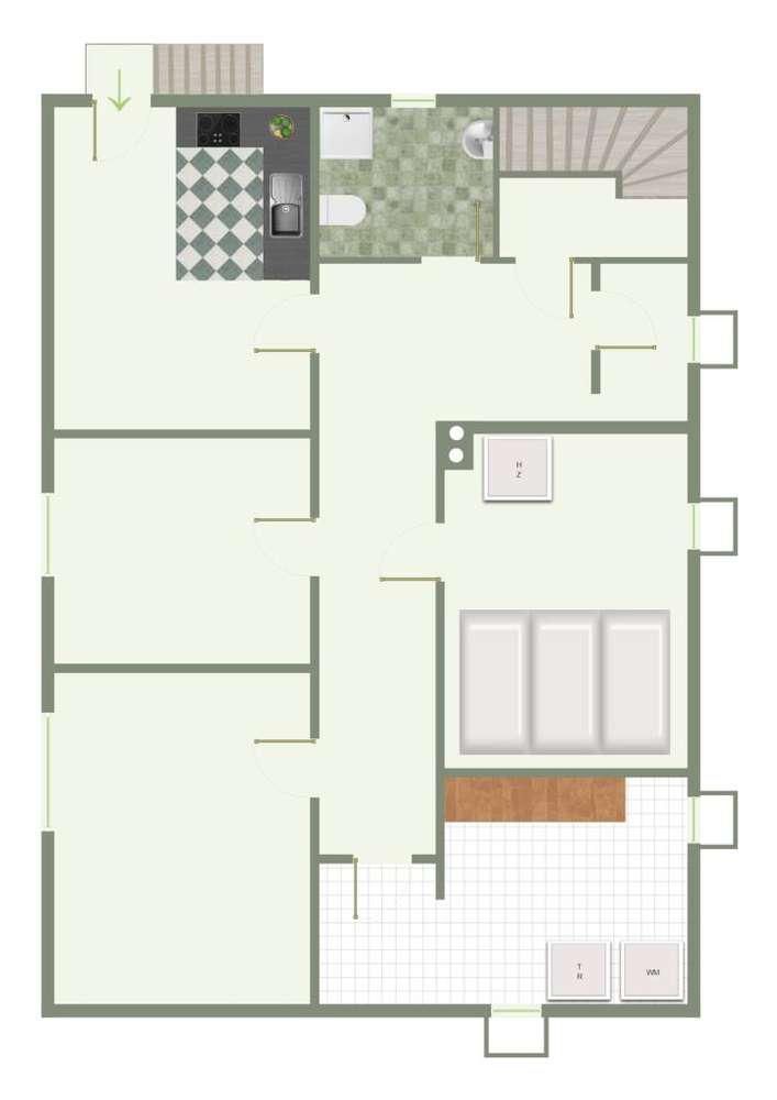 Einfamilienhaus am Regen - Grundriss Hanggeschoss